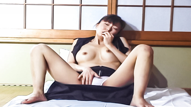 Horny Asian milf, Maria Yuuki caught in the act going solo - Jav HD Videos