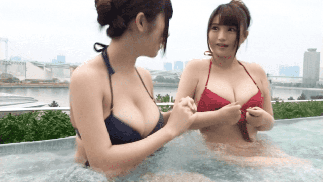 FHD 326EVA-033 Inori chan Milk J Cup Receptionist 23 year old same time joined huge breasts bikini girl and gala drinking party