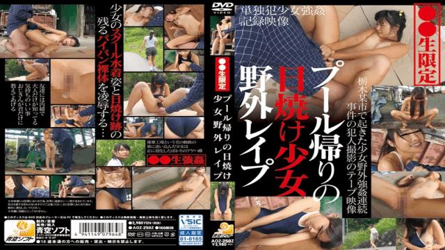 AozoraSoftware AOZ-250Z Sunbath girl outdoor rape returning to the pool - Jav HD Videos