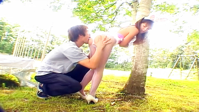Mai Hagiwara, amazing Asian babe in outdoor cosplay date - Jav HD Videos