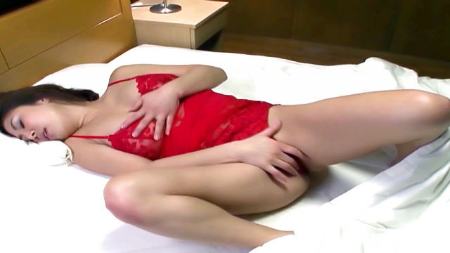 Arousing Japanese AV model in red lingerie gets facesitting - Jav HD Videos