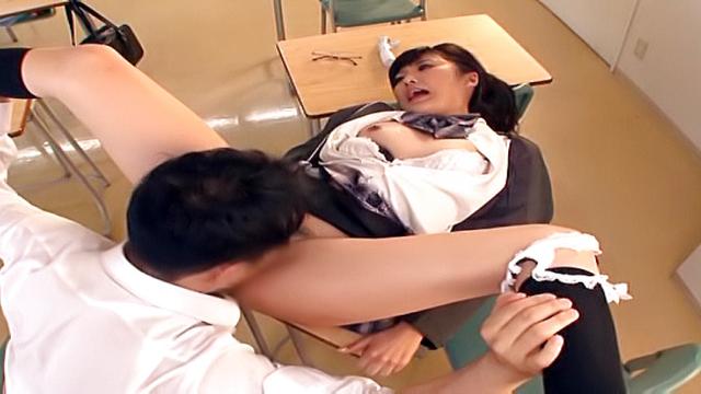 Sexy Harukawa Sesera gets rammed in a classroom - Jav HD Videos