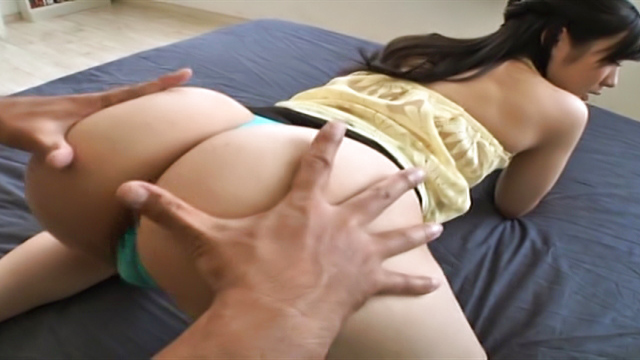 Misato Yosgiura Asian brunette babe performs a rodeo on hard thick dick - Jav HD Videos