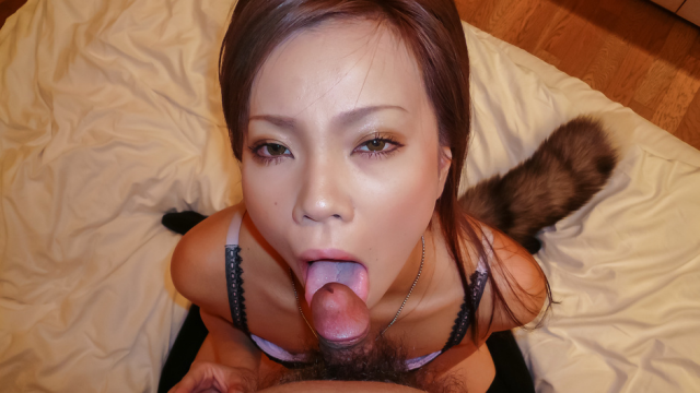 Sakiko provides Asian blowjob during nasty solo  - Jav HD Videos